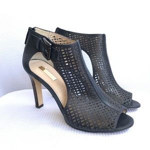LOUISE ET CIE Olivia Heels Open Toe Leather Zip